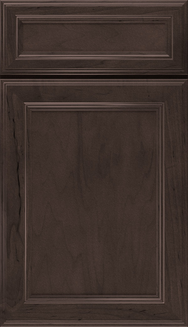 flat panel kitchen cabinets frosted glass cabinet doors flagstone gray stain on maple - aristokraft