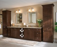 Dark Wood Cabinets in a Transitional Bathroom - Aristokraft