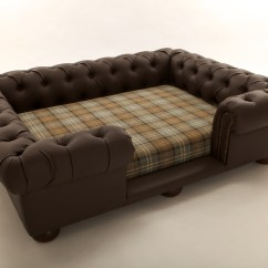 Faux Leather Chesterfield Sofa Ligne Roset Multy Bed Balmoral Designer Pet Brown