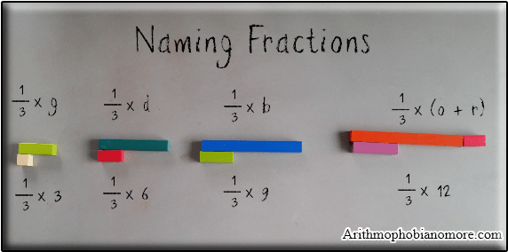 Learning Fractions with Cuisenaire rods.