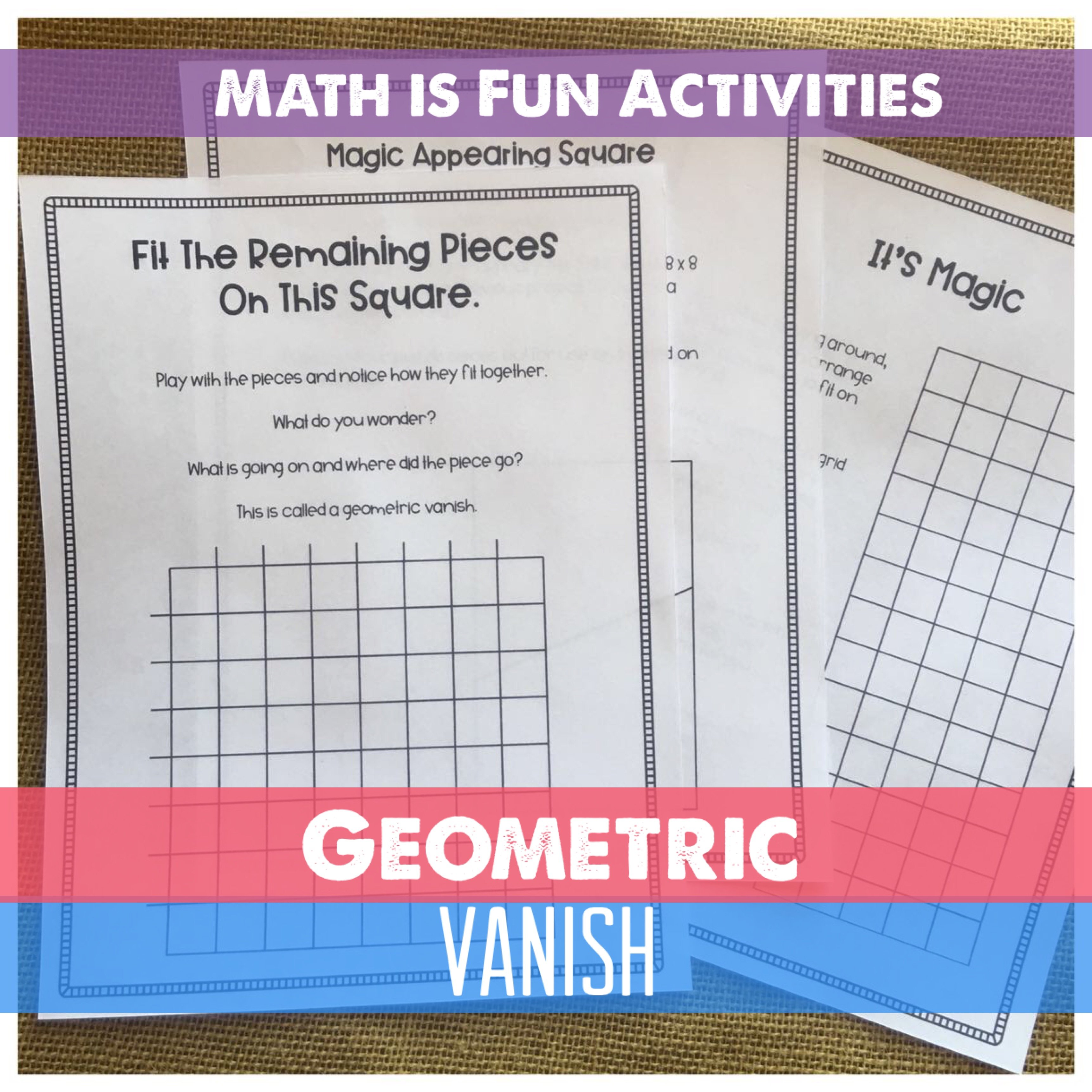Math is weird and fun. Really. Geometric Vanishes are just an introduction to that world.