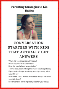 Handout for conversation starters