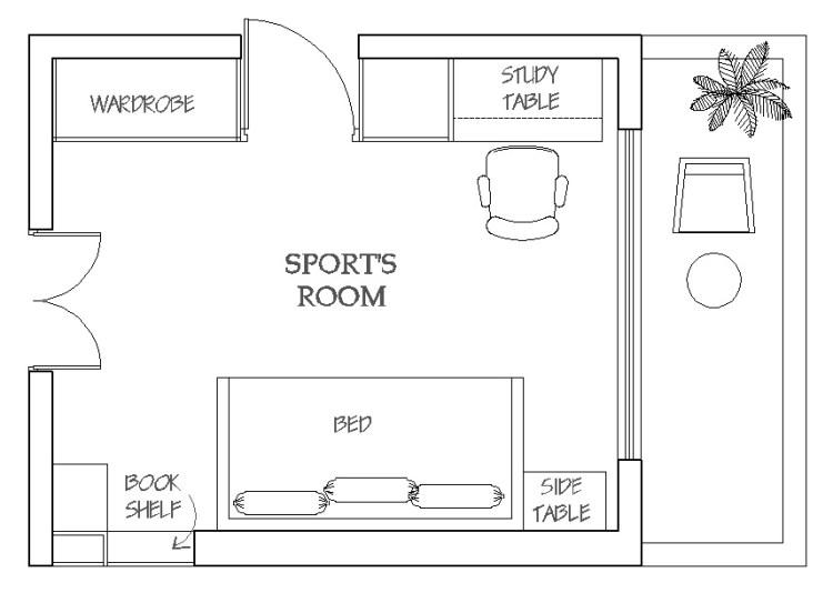 Kids Bedroom Plan
