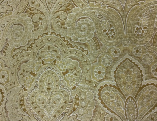 Fabric Selection - Gold self design for living room sofa