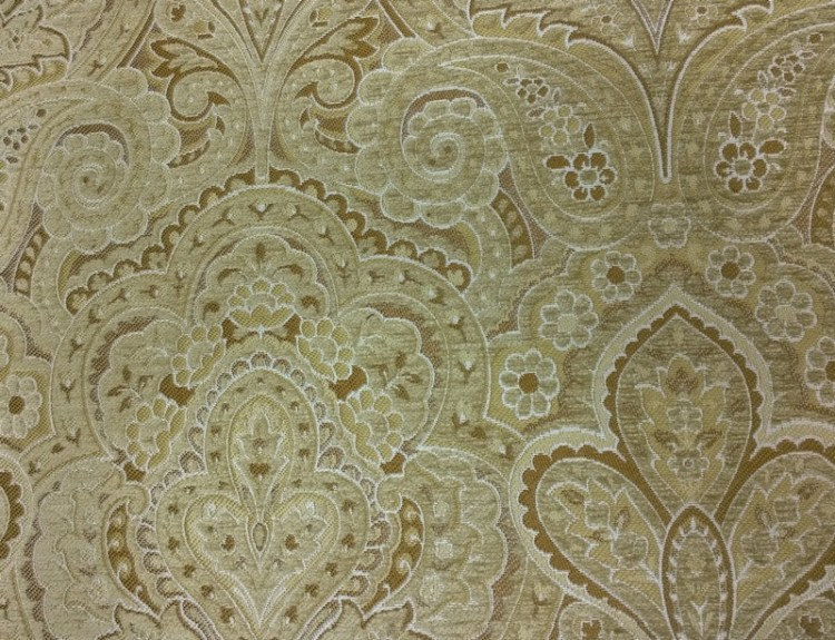 Fabric Selection - Gold self design for living room sofa