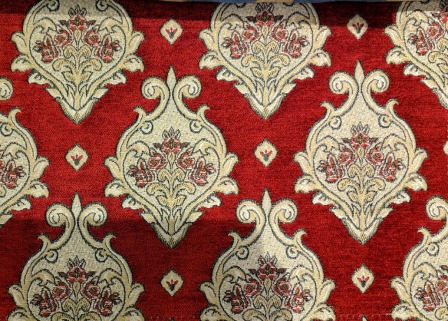 Fabric Selection - Red chenille for dining chairs