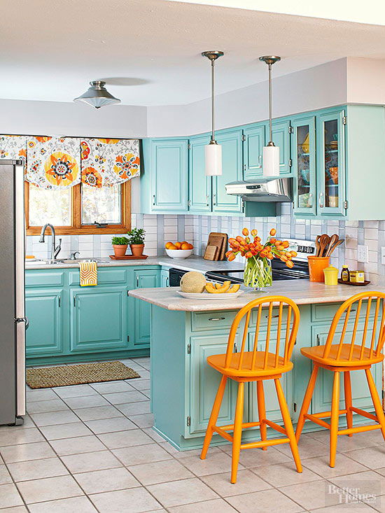Pale Orange Kitchen the best kitchen colours for your home - one brick at a time