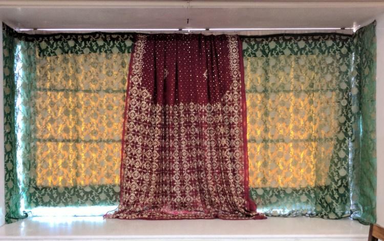Diy Ganpati Decoration With Sarees Bangles One Brick