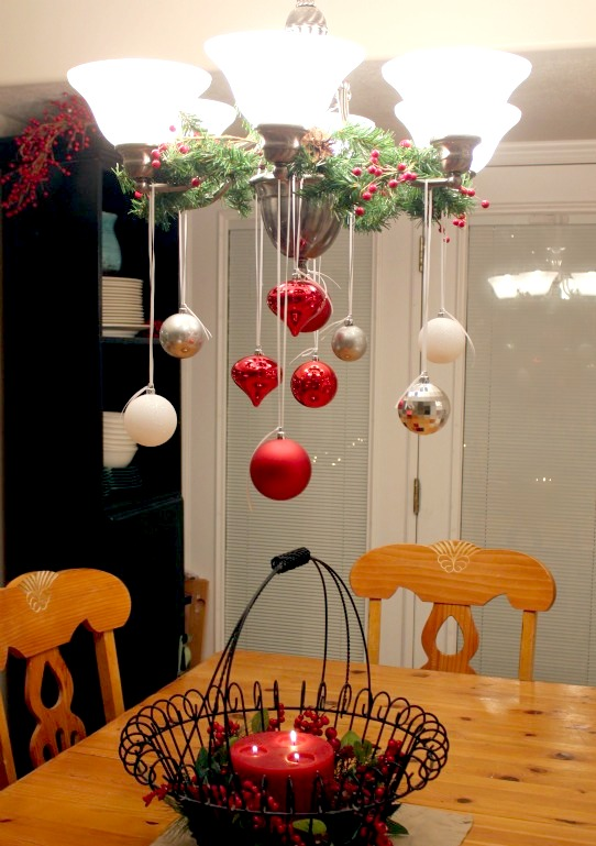 20 Cute and Easy Christmas Decor Ideas - Chandeliers