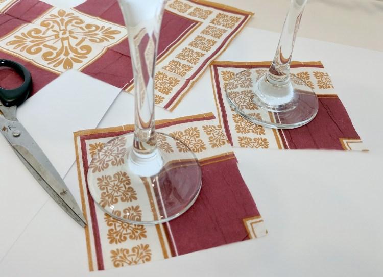 Decoupage Wine Glasses - A Sparkling Christmas DIY
