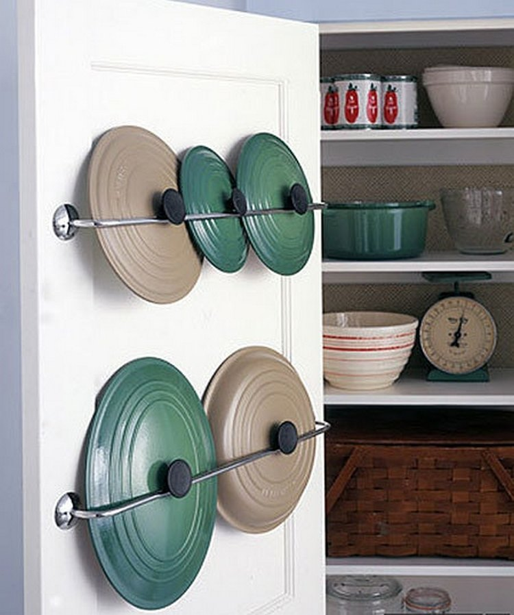11 Ways To Make Big Space in Your Small Kitchen - Inside shutters