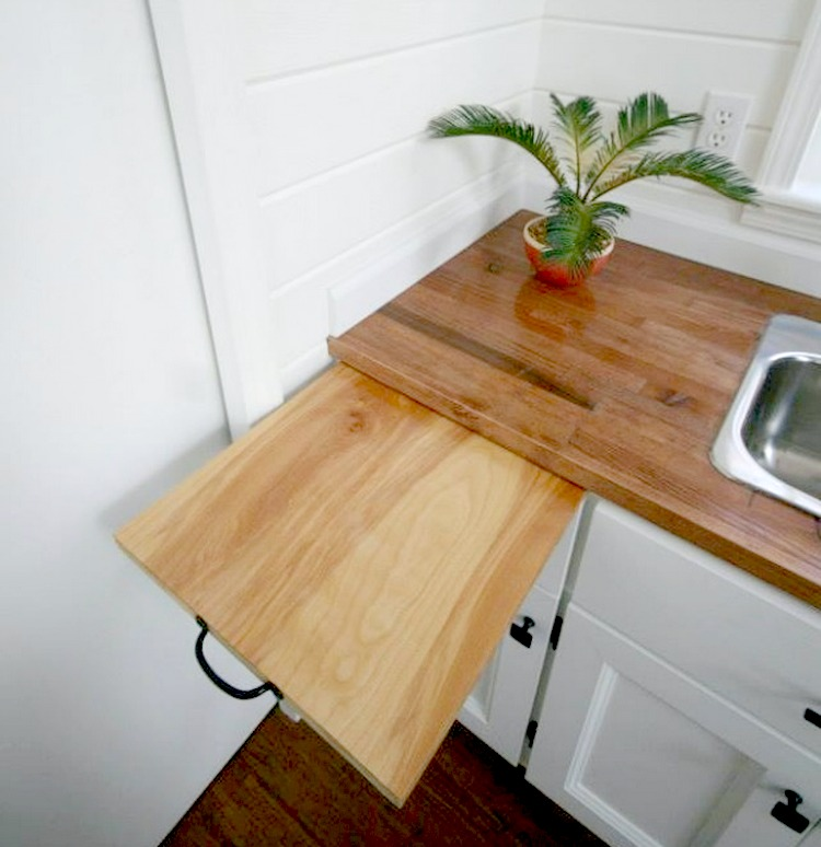 11 Ways To Make Big Space in Your Small Kitchen - Pull Out Board