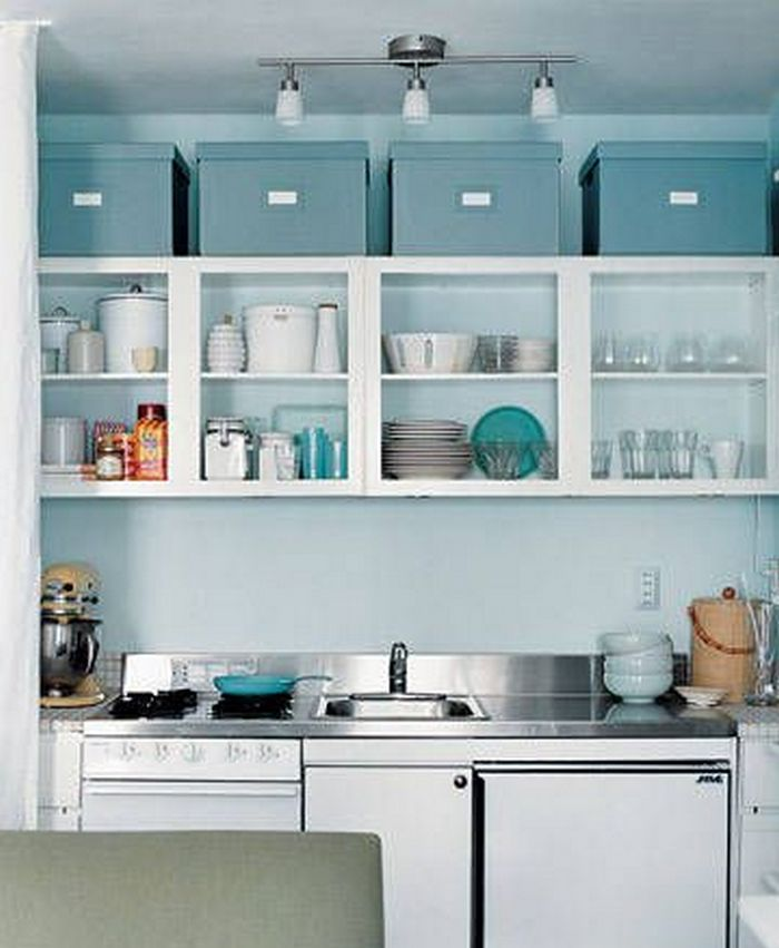 11 Ways To Make Big Space in Your Small Kitchen - Above Cabinets