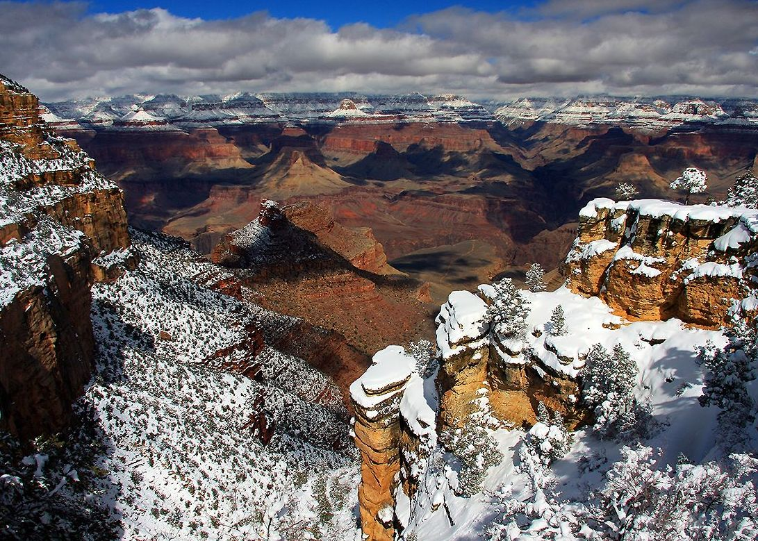 Wallpapers Gallery Falls Grand Canyon Winter Snow Pictures