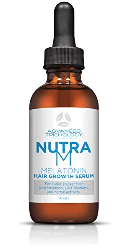 Topical Melatonin Hair Growth Serum Bottle