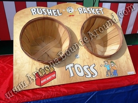 basket toss carnival game