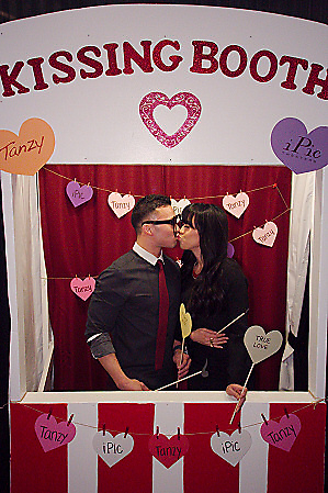 Gallery  Valentines Day Kissing Booth at iPic Theaters