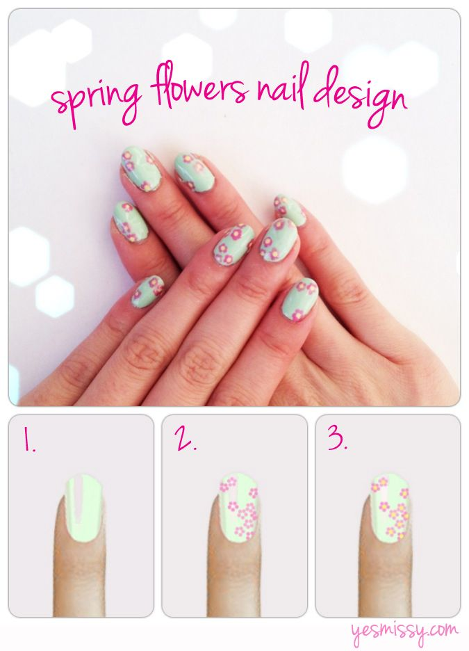 Diy Nail Art With Toothpick Step By