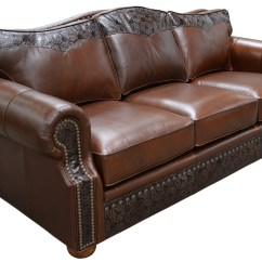 Leather Sleeper Sofa With Nailheads Contemporary Beds Design Stetson – Arizona Interiors