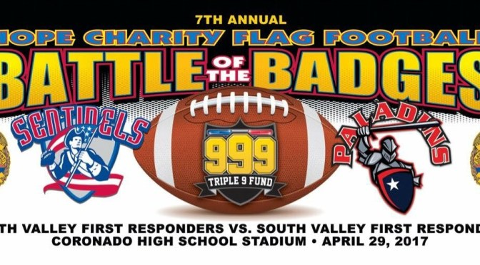 7th Annual Hope Charity Battle of the Badges Flag Football Game April 29th 6pm