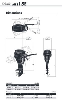 15 HP FUEL INJECTED Tohatsu 4-stroke * Central Outboard