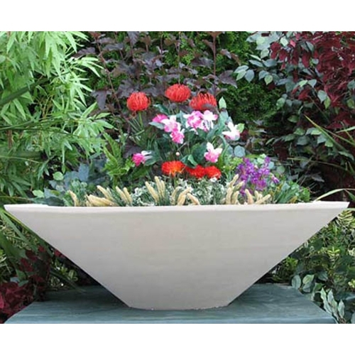 Sandstone Tapered Planter Bowl  Home  Garden Pottery American Made