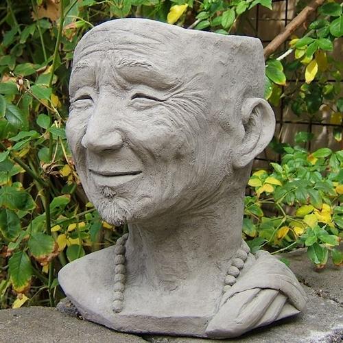 Human Face Flower Pot Monk Design Original Amp Unique