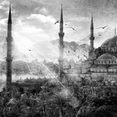 Tableau oriental mosquee Istanbul gris