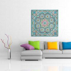 Tableau oriental mosaique rosace