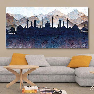 Tableau oriental paysage silhouette