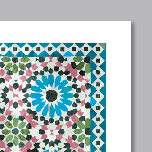 Poster oriental mosaique rosace