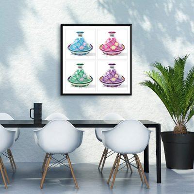 Poster oriental-tajine coloré