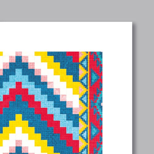 Poster oriental tapis motif berbere