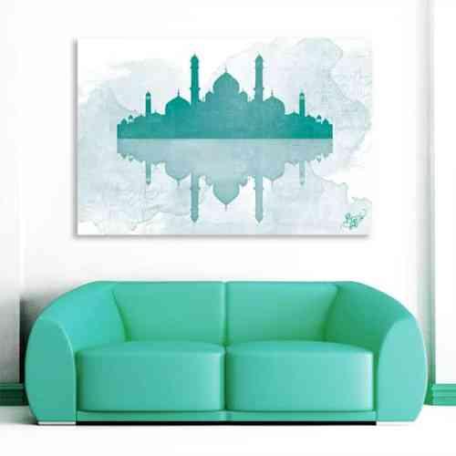 tableau oriental mosquée aquarel