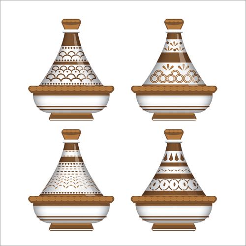 Tableau arabe-tajine déco-marron