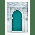 Poster arabe-porte orientale-vert