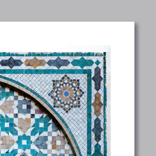 Poster arabe portes mosaique triptyque