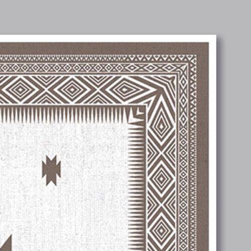 Poster oriental tapis berbere carré-detail