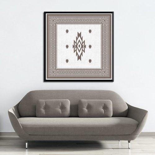 Poster oriental tapis berbere carré