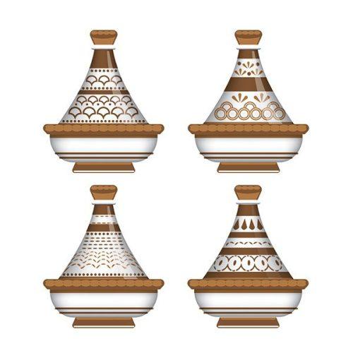 Tableau arabe tajine déco-marron
