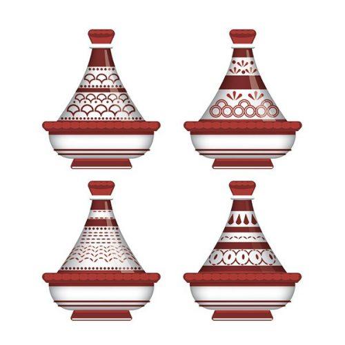 Tableau arabe tajine déco-rouge