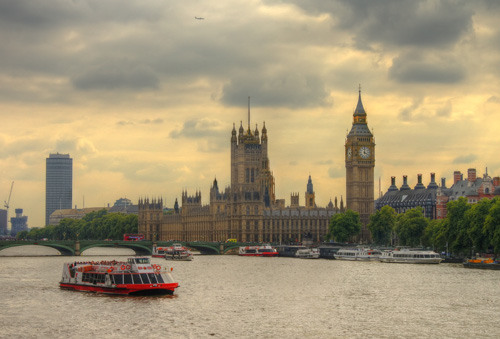 London - Houses of Parliament and Westminster Bridge