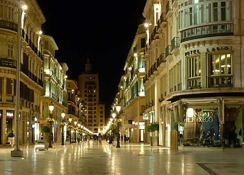 Malaga C/ Marques de Larios - night