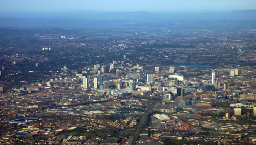 Birmingham from the air 8th April 2010