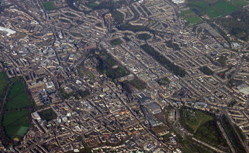 Edinburgh from the air