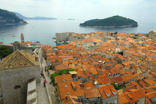 Dubrovnik roof tops and old harbour
