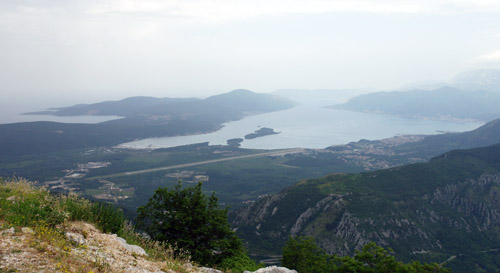 Bay of Kotor with Adriatic in the background