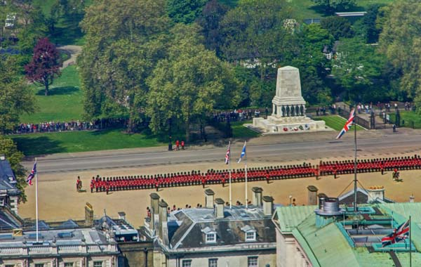Horse Guards Parade - preparing for the changing of the guard