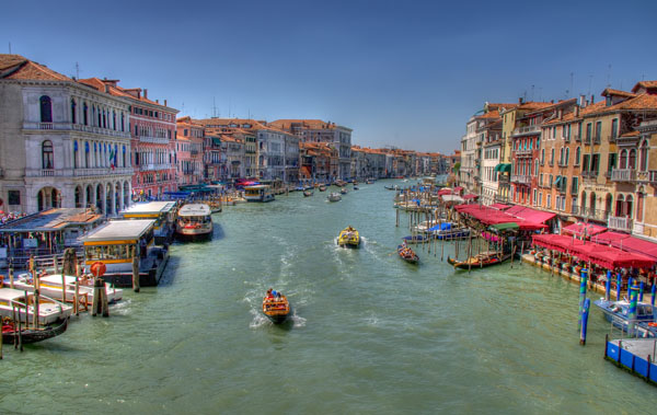 Venice: Grand Canal from Rialto Bridge