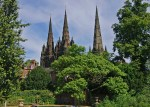 Lichfield Cathedral - the three spires